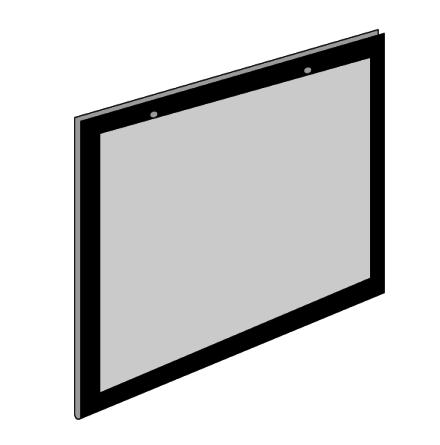 Plastficka A2 Liggande med 2 hål och svart passepartout