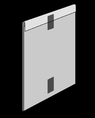 Plastficka A5-A6 Stående med magnettejp