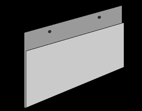 Liggande plastficka med 2 hål