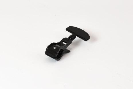 Ledad hållare stor klämma svart