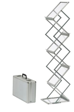 Broschyrställ Smart Fällbart, Silver 6xA4