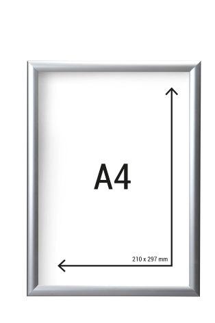 Aluminiumram A4 med 25mm ramprofil