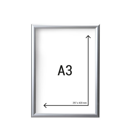 Aluminiumram A3 med 25mm ramprofil