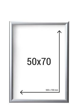 Aluminiumram 50x70 med 38mm ramprofil