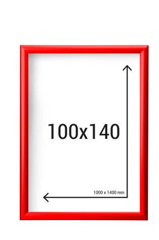 Aluminiumram 100x140 med 45mm ramprofil