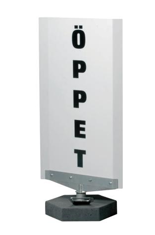 Spin Sign Vit Snurrskylt, textyta H80xB40cm