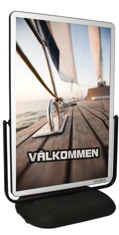 Wind Sign Cyklone Aluminium Affischmått 100x140cm