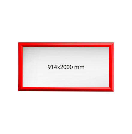 Aluminiumram 914x2000 Röd