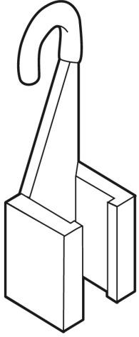 Hängclips för ram fast krok
