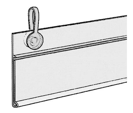 Hyllkantslist 39,2x150mm 2 hål inkl 2 st hängnit