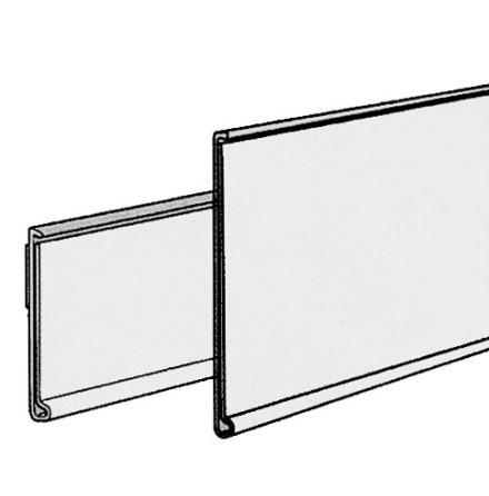 Raka lister Etiketthöjd 39mm Längd 1250mm med tejp