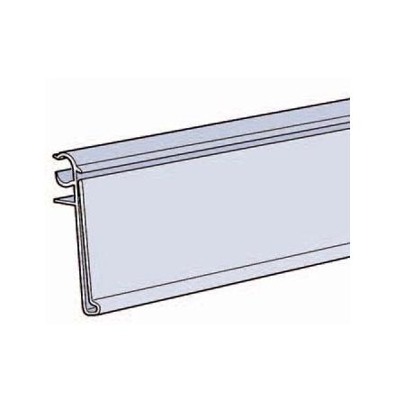 List 39mm för trådhylla 6-7mm enkeltråd i front Vit 885mm