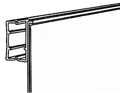 Vinklad/rak39mm list pinpac Transparant 595mm
