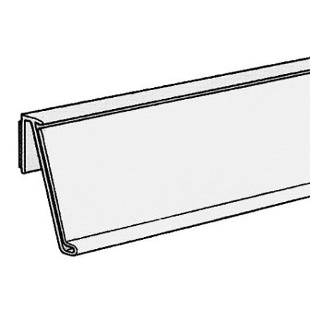 Vinklad list 39mm för plana ytor Grå 895mm
