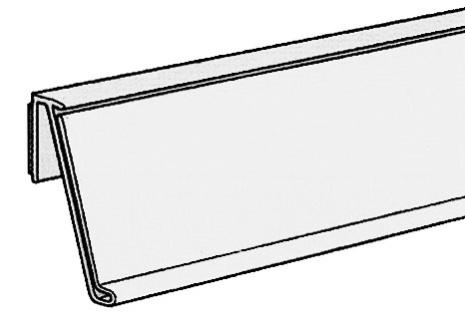 Vinklad list 39mm för plana ytor Transparant 212mm