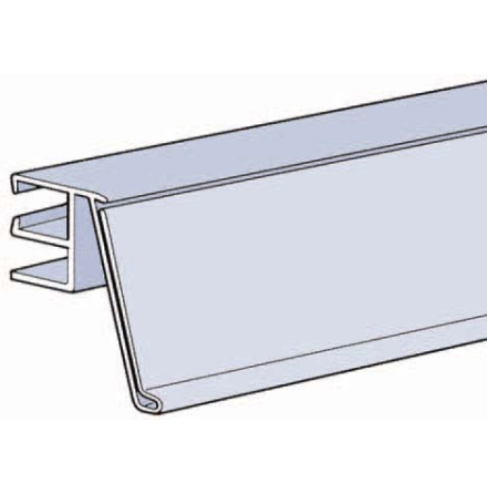 Vinkadl list 39mm trådhylla dubbeltråd Grå 885mm