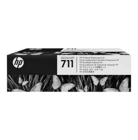 Skrivhuvud HP DesignJet T520 Svart, gul, cyan , magenta