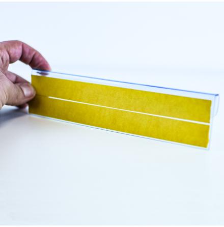 Akrylhållare med adhesiv för spjutskena
