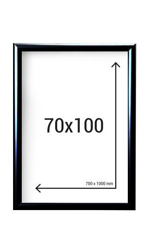 Aluminiumram 70x100 Svart 25mm ramprofil