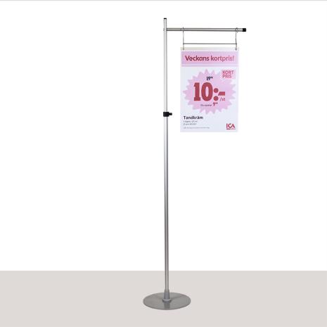 L-golvställ längd på arm 500mm. Höjd 1000-1900mm