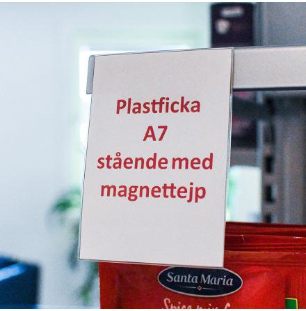 Plastficka A7 stående med magnettejp