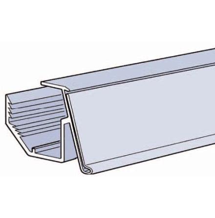 Vinklad list 26mm för plåthylla Grå 885mm